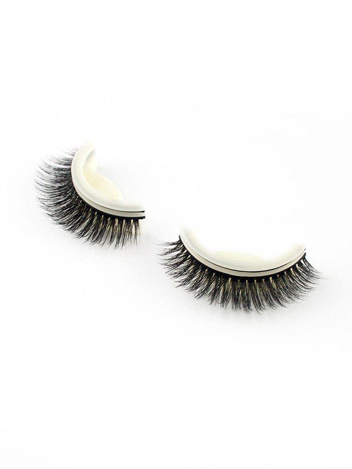 Pair of Handmade Reusable Volumizing Glue Free False Eyelashes -
