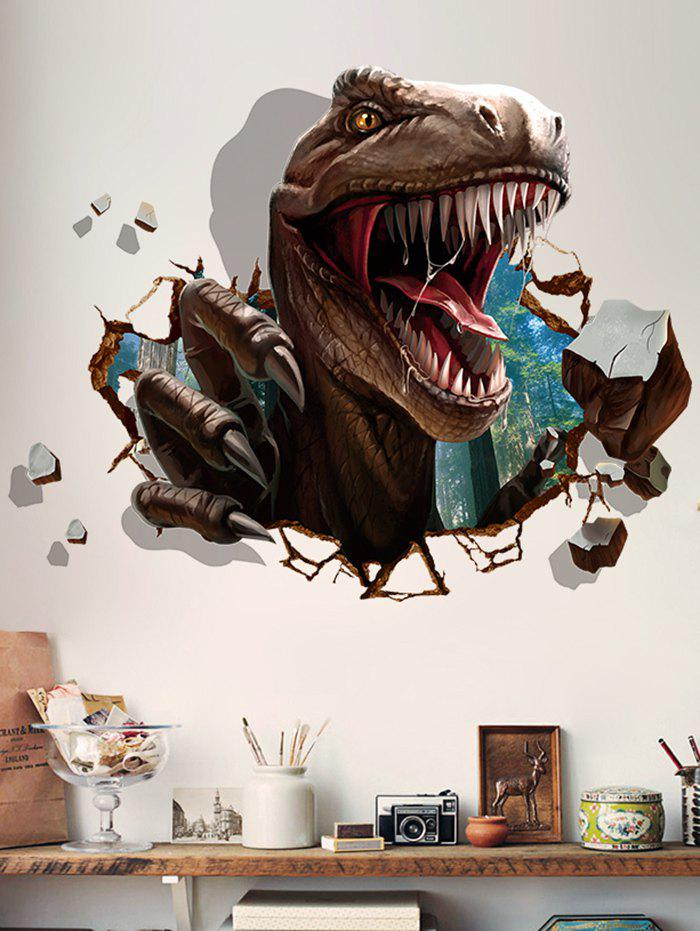 Dinosaur 3D Pattern Broken Wall Sticker