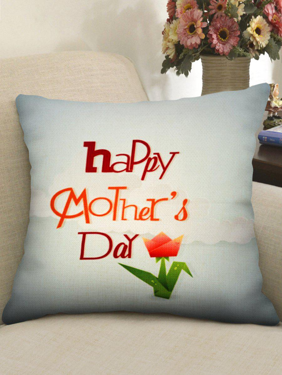 Mother's Day Art Greetings Flower Pattern Decorative Pillowcase - multicolor W18 INCH * L18 INCH