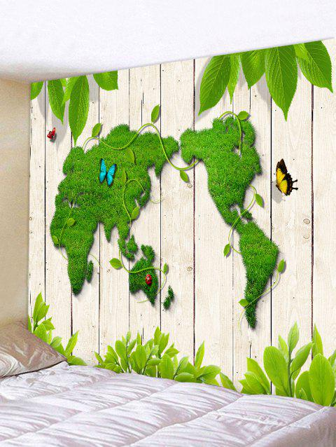 2019 Butterfly World Map Grass Print Wall Art Tapestry In Spring