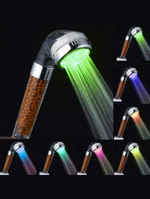 7 Colors Changing LED Shower Head - multicolor 22*8*5CM
