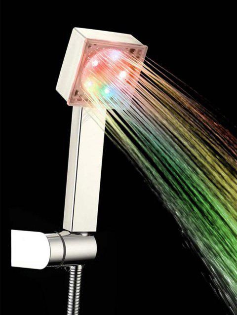5 Colorful LED Lights Little Square Shower Head - multicolor 25*7.5*4.7CM