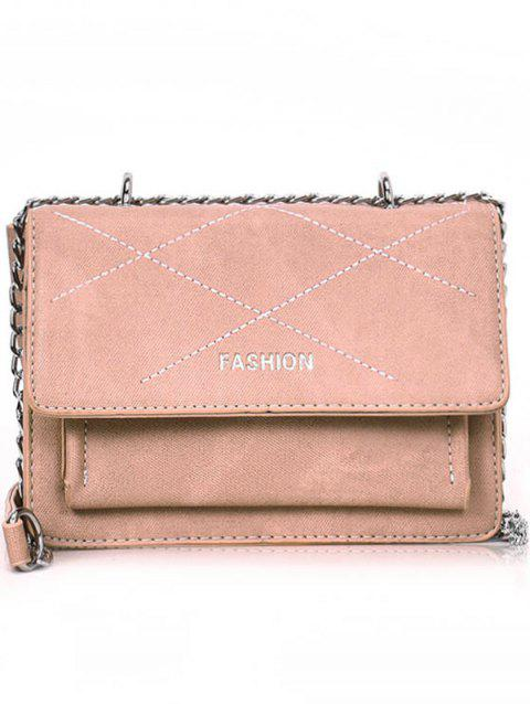 Casual Minimalist Outdoor Shopping Crossbody Bag - PINK