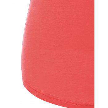 Color Block Ringer Tank Top - RED 2XL