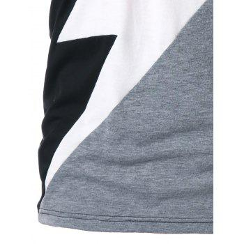 Color Block Lightning Print Graphic T-shirt - COLORMIX XL