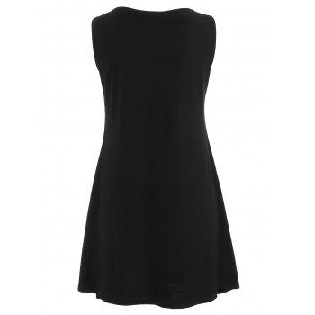 Mama Moon Mini Tank Dress - BLACK L
