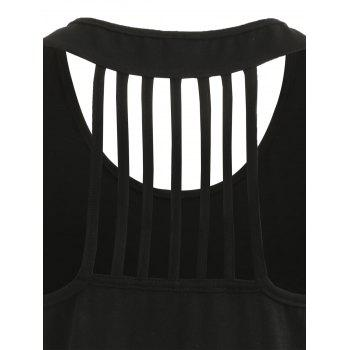Mama Moon Strappy Back Tank Top - BLACK S