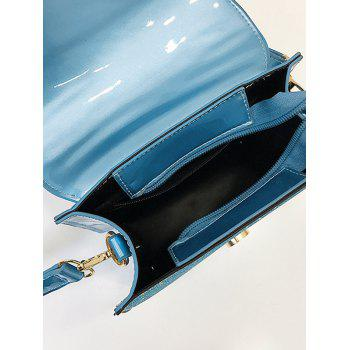 Sequins Scallop Flapped Crossbody Bag - BLUE
