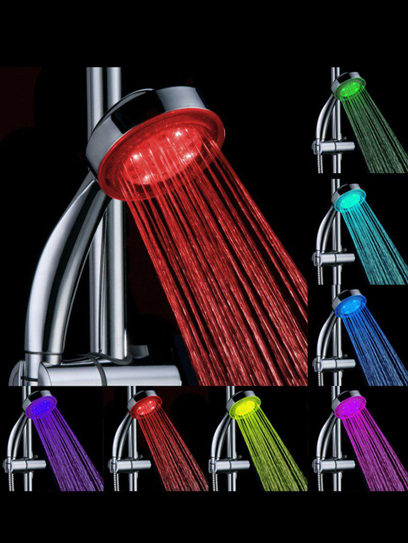 LED Colorful Auto Changing Circular Luminous Shower Head - multicolor 21.5*7.8*3.8CM