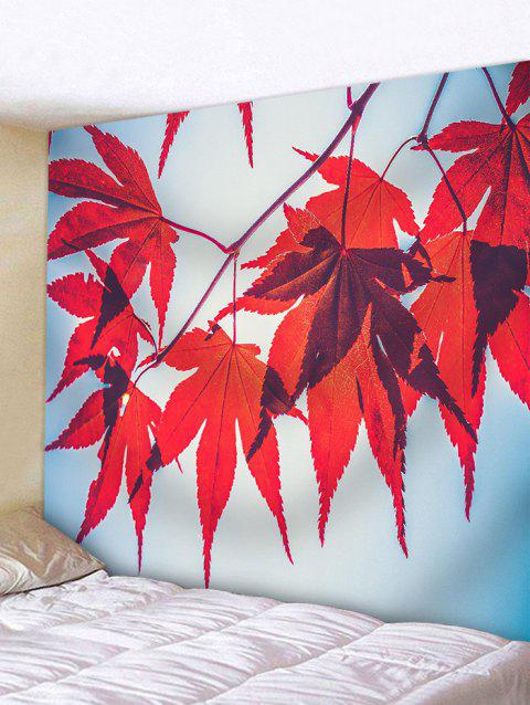 Maple Leaf Pattern Wall Hanging Tapestry - FERRARI RED W59 INCH * L51 INCH