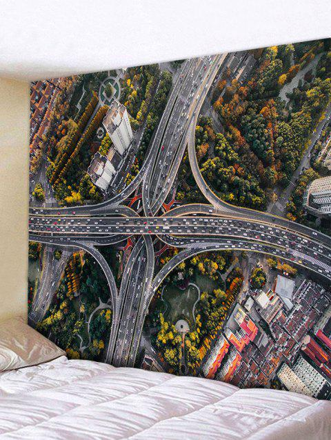 Overpass Pattern Wall Hanging Tapestry - multicolor W91 INCH * L71 INCH