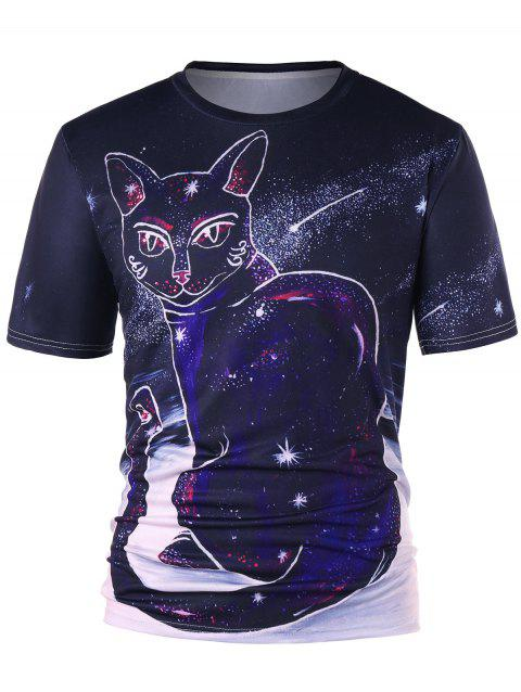 T-Shirt à Imprimé Totem Chat - multicolore L