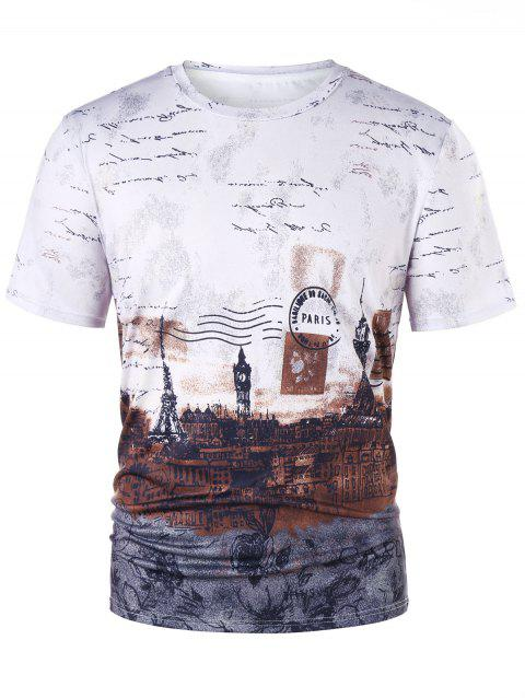European Stamp T-shirt - COLORMIX XL