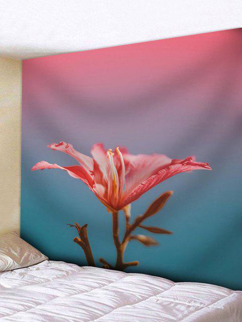 A Red Flower Print Wall Art Decor Tapestry - multicolor W91 INCH * L71 INCH