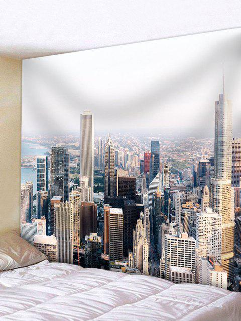 Modern City Buildings Wall Hanging Tapestry - multicolor W71 INCH * L71 INCH