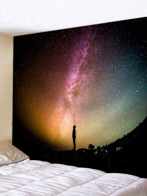 The Sky at Night Pattern Wall Art Tapestry - multicolor W91 INCH * L71 INCH