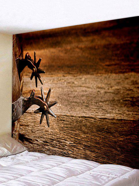 Antique Star Spurs Printed Tapestry Wall Decor - BROWN W71 INCH * L71 INCH