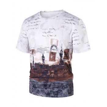 European Stamp T-shirt - COLORMIX 2XL