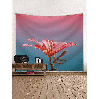 A Red Flower Print Wall Art Decor Tapestry - multicolor W79 INCH * L59 INCH