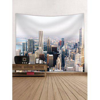 Modern City Buildings Wall Hanging Tapestry - multicolor W91 INCH * L71 INCH