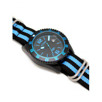 InTimes Sporty Wrist Watch with Plastic Case Nylon Band - BLUE