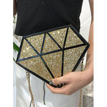 Shimmering Geometric Chic Crossbody Bag - GOLD