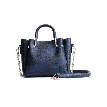 Multiple Function Embroidery Tote Bag for Shopping - BLUE