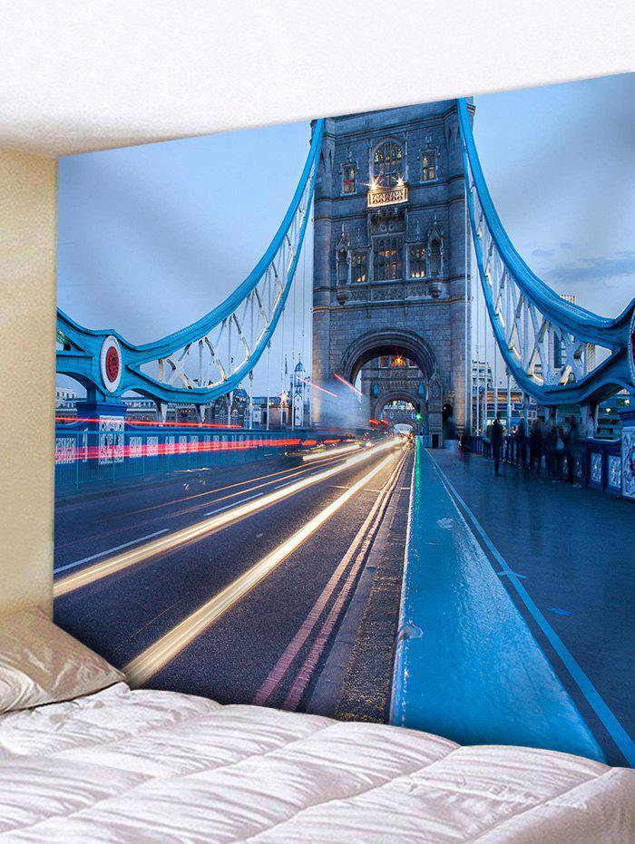 Historic Tower Bridge Pattern Wall Decor Tapestry - BLUE W91 INCH * L71 INCH