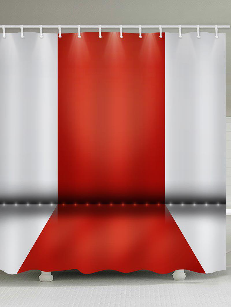 Stage Pattern Waterproof Bathroom Shower Curtain - RED W71 INCH * L71 INCH