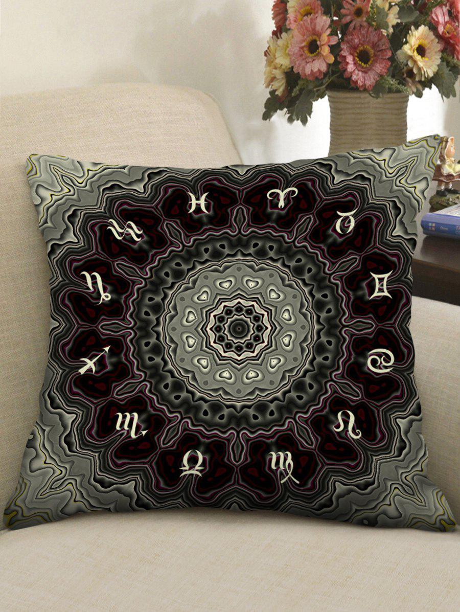 Zodiac Agate Print Sofa Pillowcase - multicolor W18 INCH * L18 INCH