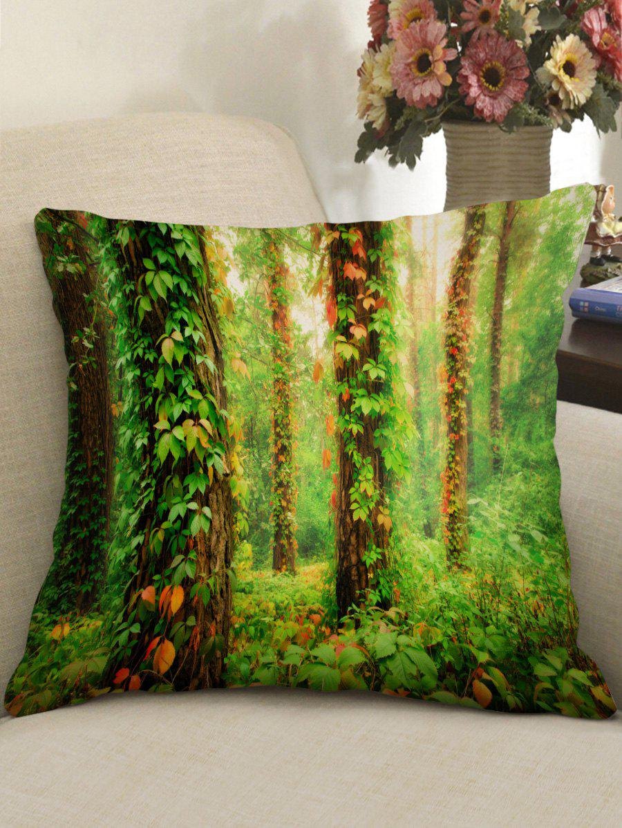 Forest Vines Print Sofa Pillowcase - GREEN W18 INCH * L18 INCH