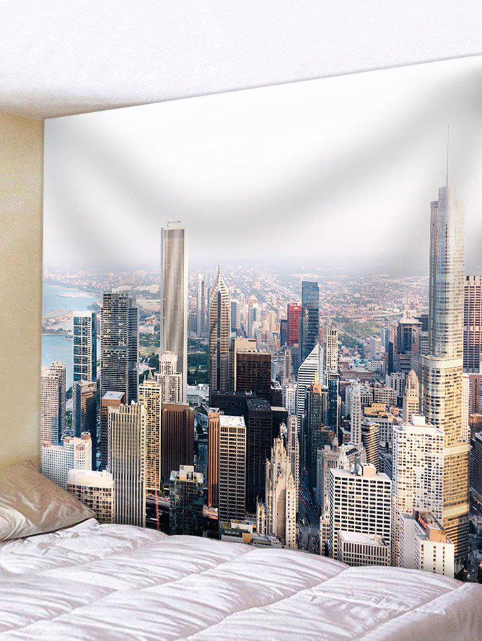Modern City Buildings Wall Hanging Tapestry - multicolor W59 INCH * L51 INCH