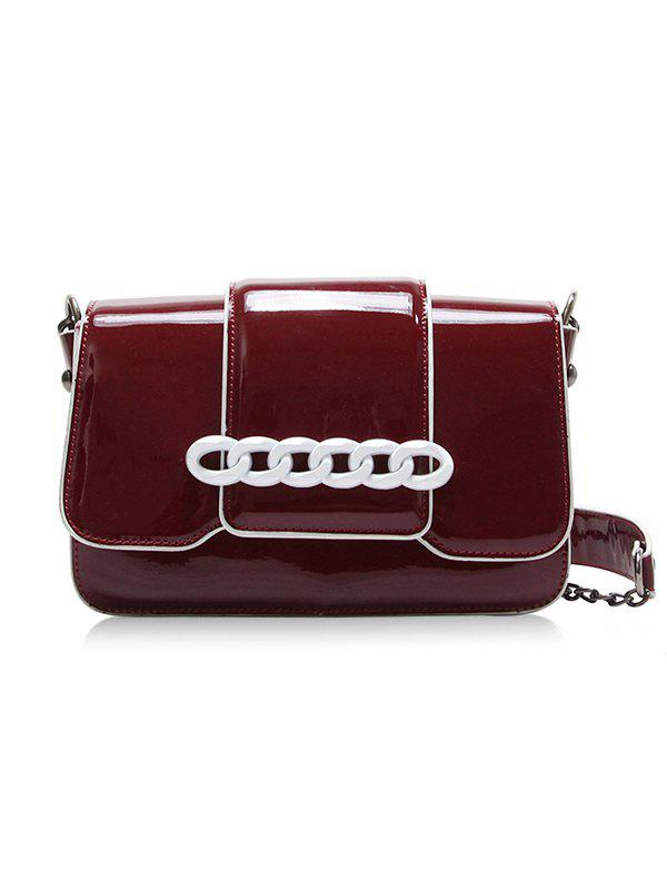 Daily Outdoor Minimalist Crossbody Bag - RED WINE