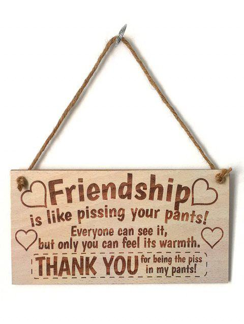 48eed0383f0 41% OFF  2019 Home Decor Friendship Signed Hanging Wooden Plaque In ...