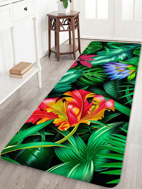 Forest Flowers Printed Home Decor Area Rug - multicolor W16 INCH * L47 INCH