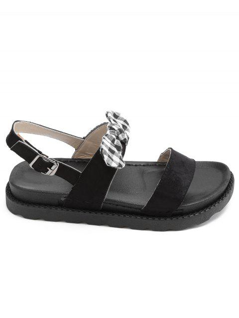 Leisure Outdoor Plaid Bowknot Sandals - WHITE 36