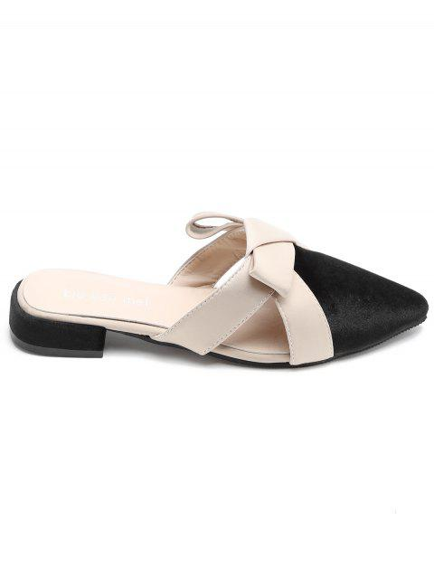 Pointed Toe Casual Backless Sandals - BLACK 39