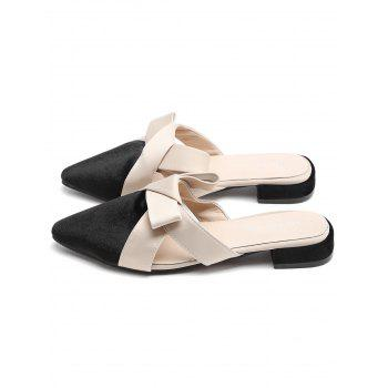 Pointed Toe Casual Backless Sandals - BLACK 38
