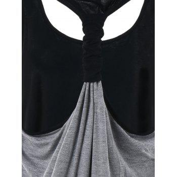 Casual Racerback Tank Top - GRAY XL