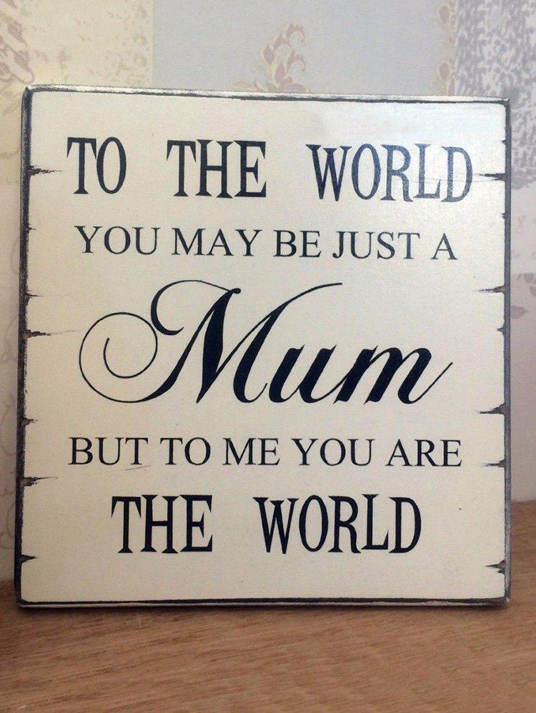 Mother's Day Gift Home Decor Wooden Plaque Ornament - WHITE