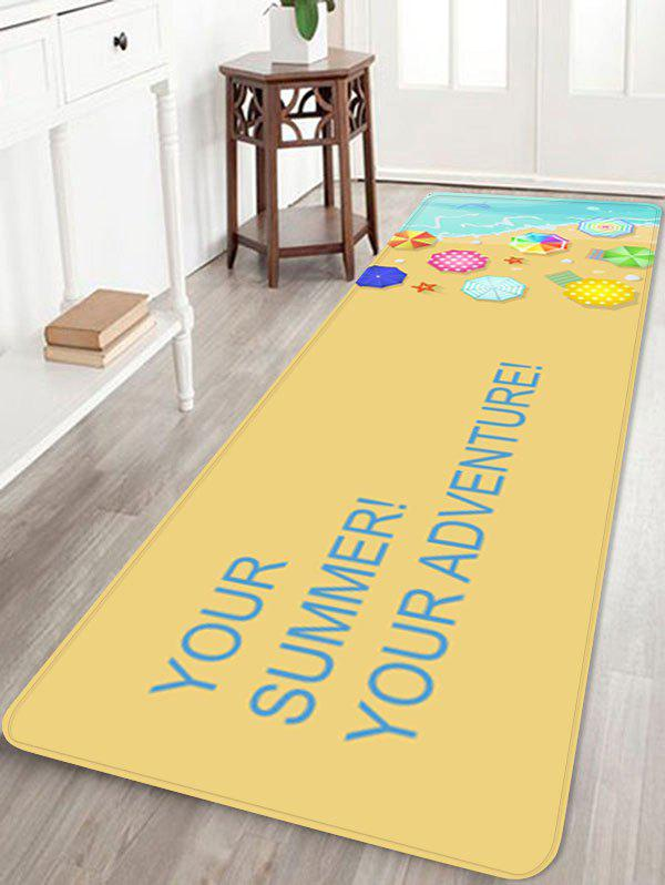Holiday Beach Relaxation Printed Indoor Area Rug - multicolor W16 INCH * L47 INCH