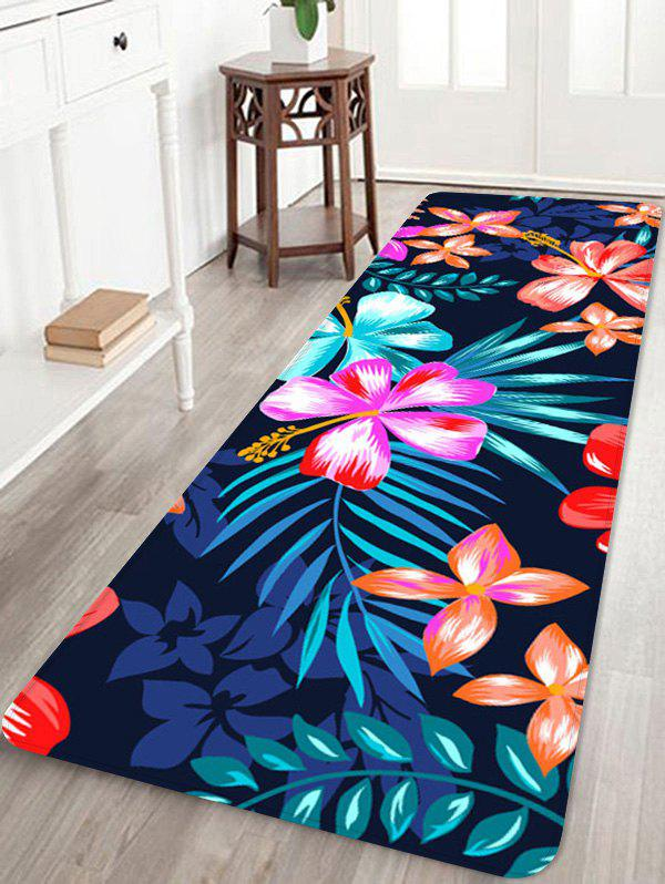 Home Decor Blooming Flowers Print Floor Mat - multicolor W24 INCH * L71 INCH