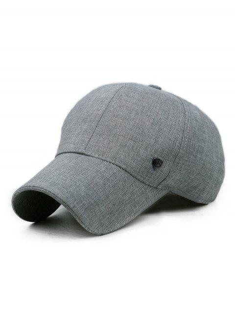 Solid Color Outdoor Sunscreen Hat - GRAY