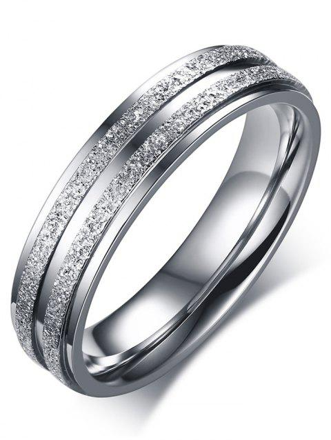 Metal Double Round Finger Ring - SILVER 7