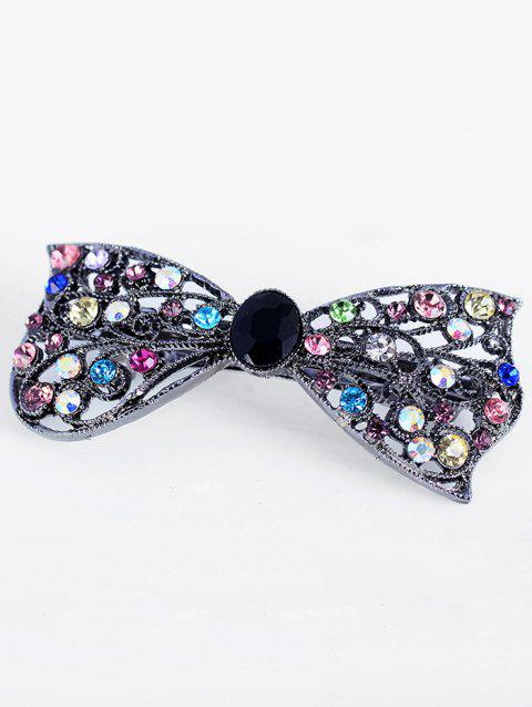 Sparkly Rhinestone Metal Bows Hairpin - multicolor A