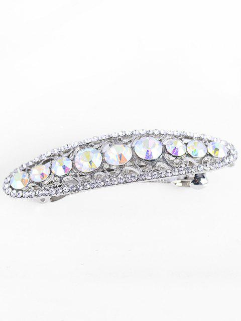 Sparkly Faux Crystal Rhinestoned Hairpin - WHITE