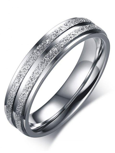 Stainless Steel Doubled Circle Finger Ring - SILVER 11