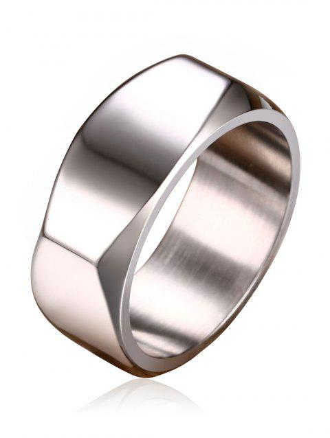 High Polished Alloy Band Ring - SILVER 8