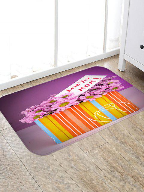 Mother's Day Gift Flowers Box Print Antislip Floor Rug - multicolor W16 INCH * L24 INCH