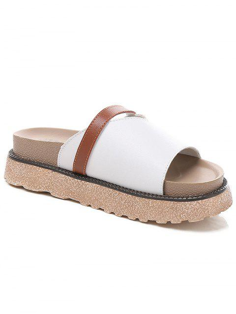 Lanbaoli Slip On Platform Outdoor Casual Slippers - WHITE 38